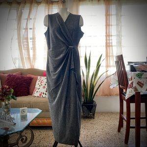SOHO Apparel Ltd.  Silver/Black Formal Dress PXL